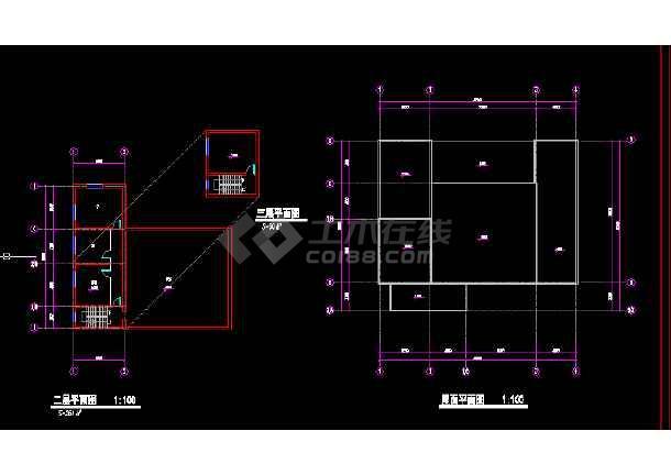 青岛火车站全套建筑施工CAD设计方案图纸-图3