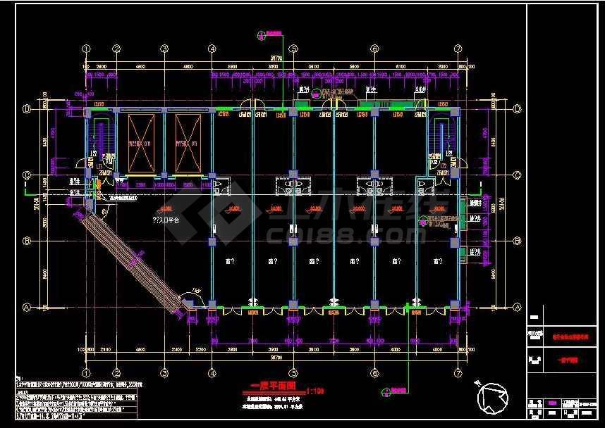 立体停车库5层车库全专业设计施工图-图1