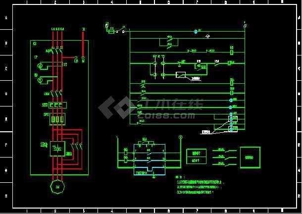 17张abb软启动电气cad控制方案图纸