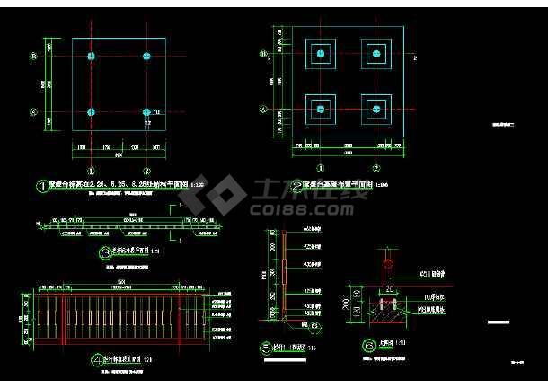 园林景观建筑瞭望塔全套详细图纸-图2