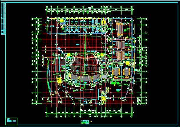 影剧院建筑设计CAD方案施工图纸-图3