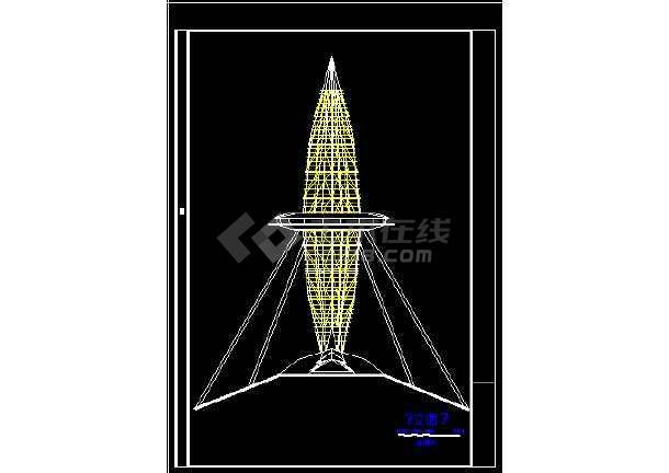 观光塔建筑施工CAD设计方案全套图-图1