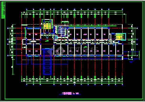 某学院行政办公楼的cad平面设计图