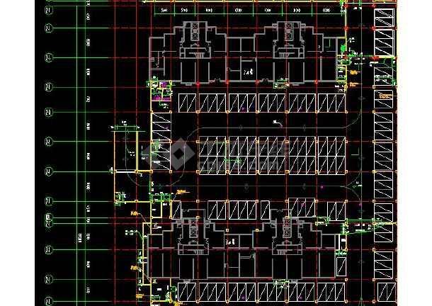 高级地下车库带人防组合cad设计施工图-图2