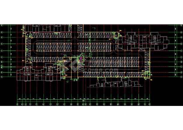 高级地下车库带人防组合cad设计施工图-图3