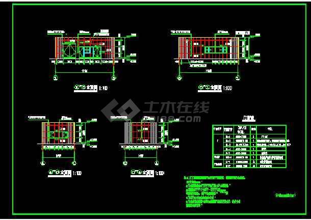变电房管理房建筑设计施工cad方案图