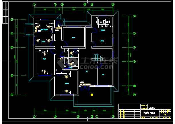 药厂动物房净化空调安装设计cad平面施工图