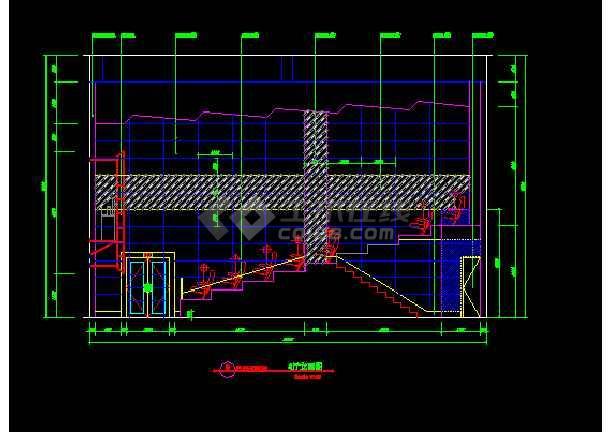 保利电影院建筑施工cad设计方案图纸-图2