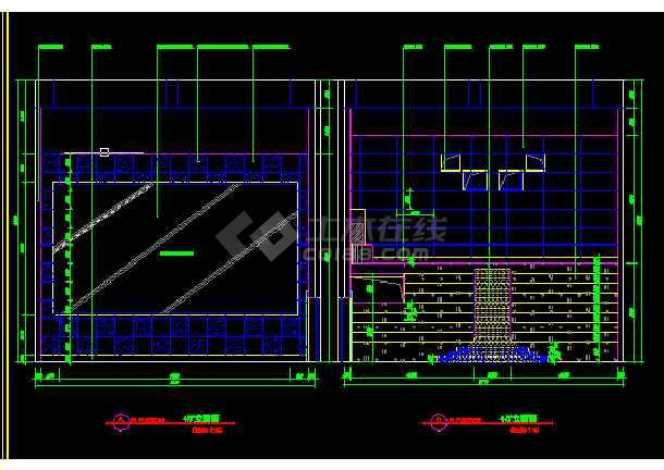 保利电影院建筑施工cad设计方案图纸-图3