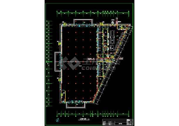 某市员工食堂采暖施工设计cad平面施工方案图-图1