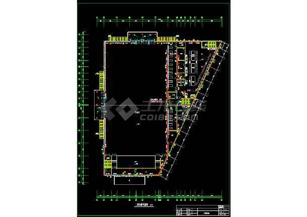 某市员工食堂采暖施工设计cad平面施工方案图-图2