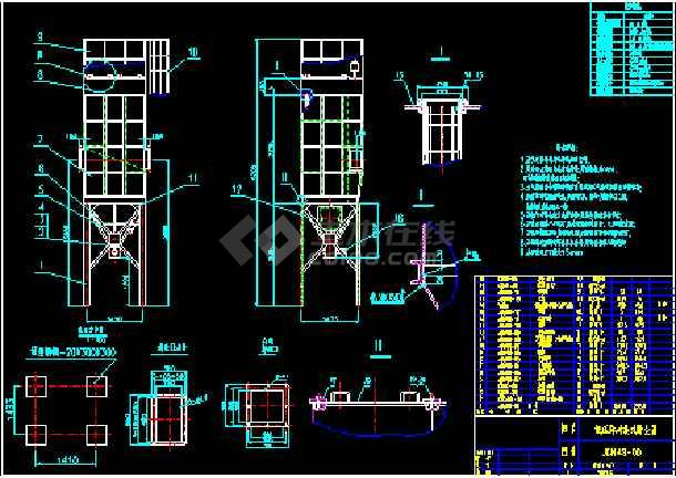 CM48-2-2700脉冲袋式除尘器安装大详图dwg格式-图1