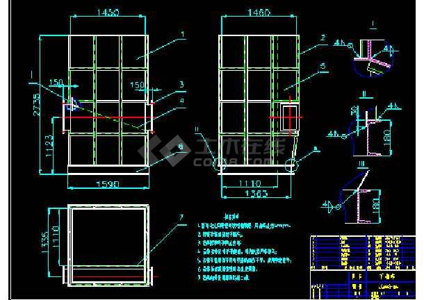 CM48-2-2700脉冲袋式除尘器安装大详图dwg格式-图2