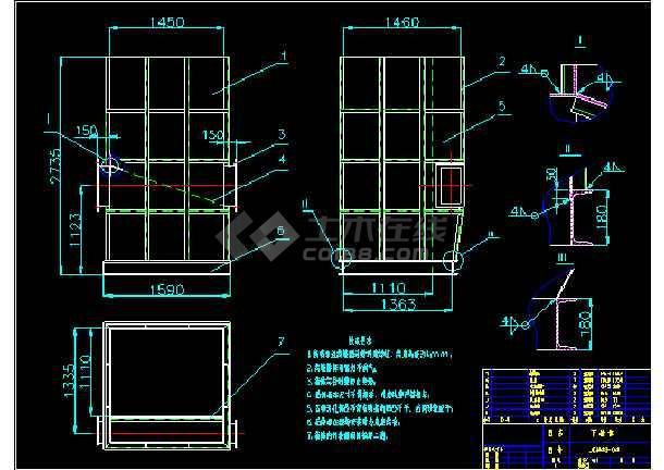 CM48-2-2700脉冲袋式除尘器安装大详图dwg格式-图3