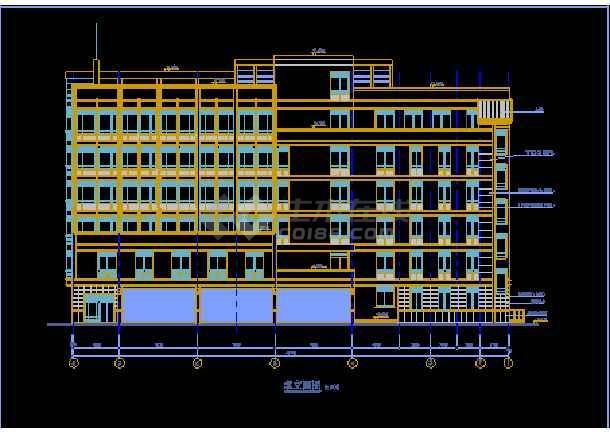 某多层办公楼cad建筑施工设计图