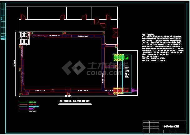 某净化厂厂房布置cad怕平面施工设计图-图1
