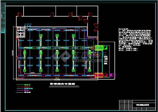 某净化厂厂房布置cad怕平面施工设计图-图3