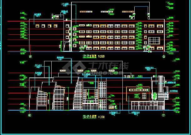 某影剧院建筑CAD设计施工平面图纸-图1