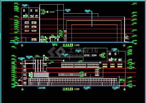 某影剧院建筑CAD设计施工平面图纸-图2