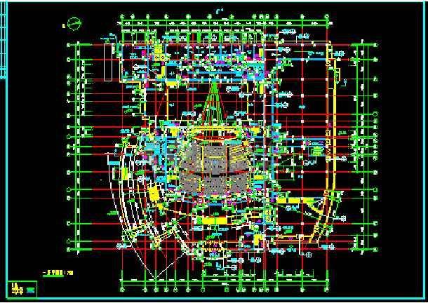 某影剧院建筑CAD设计施工平面图纸-图3