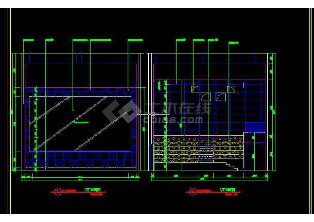 国际电影院建筑施工cad设计方案图纸-图3