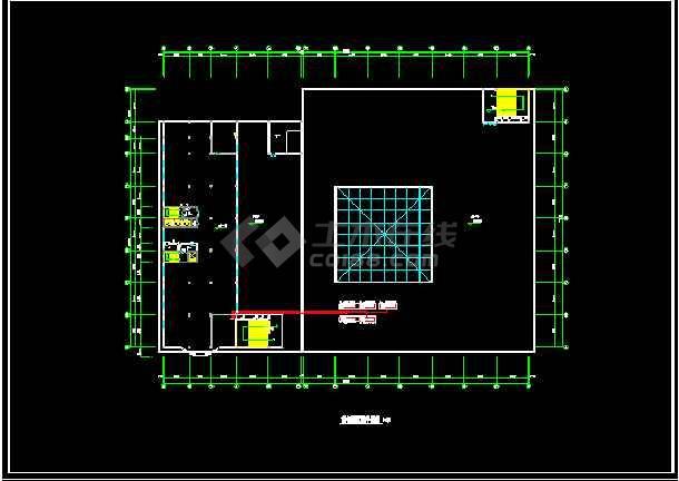 某市银行VRV多联机空调系统cad施工设计图-图1