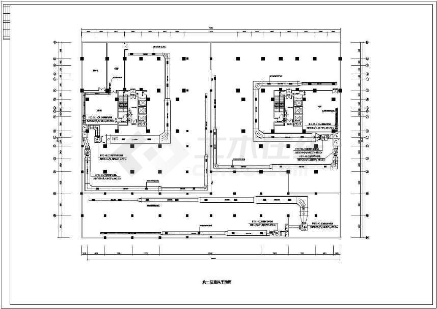 某高层住宅楼防烟排烟施工图纸(标注详细)-图3