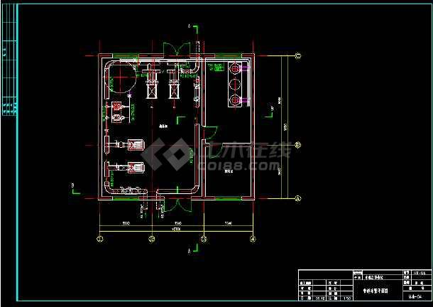 某换热站全套管道系统cad平面设计施工图纸-图2