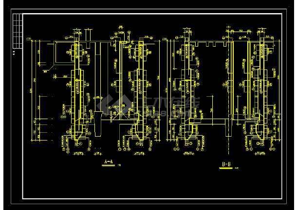 某地区道路沉井cad设计大样图纸-图1