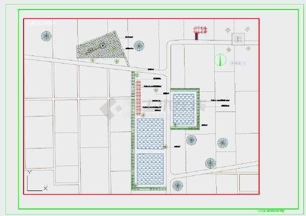 某村田园综合体旅游生态景观工程施工图-图3