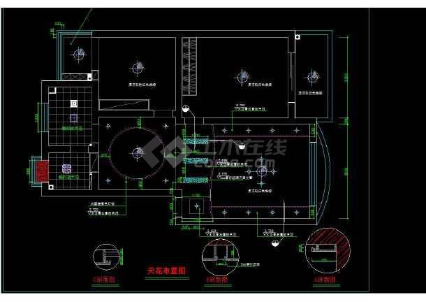 南京某地某小区经典两居室室内装修cad方案施工图-图2