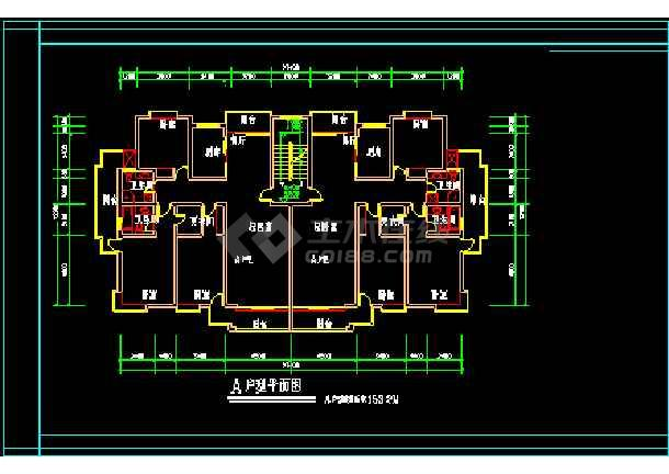 经典别墅建筑施工设计CAD方案户型图集-图1
