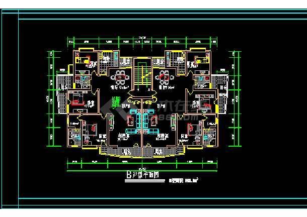 经典别墅建筑施工设计CAD方案户型图集-图2