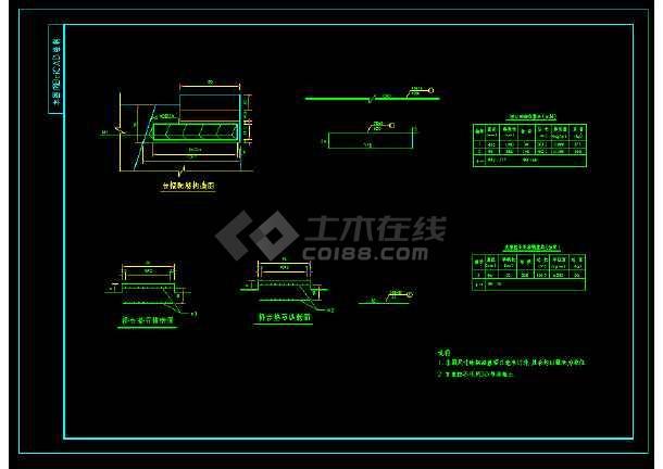 某钢架拱型桥全套CAD图纸设计图-图3