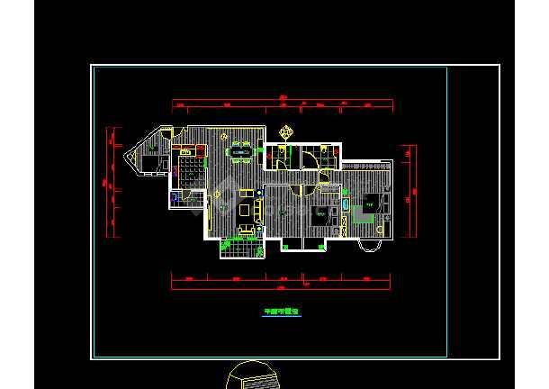 某住宅装修室内设计cad施工方案图5-图1