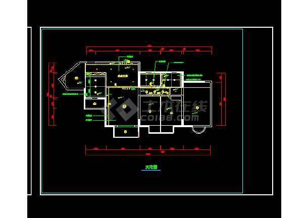 某住宅装修室内设计cad施工方案图5-图2