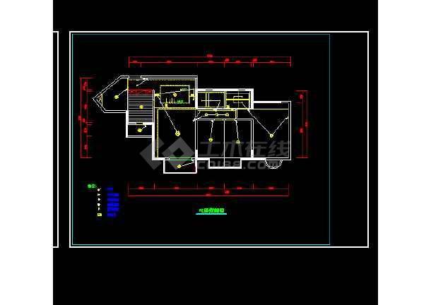 某住宅装修室内设计cad施工方案图5-图3