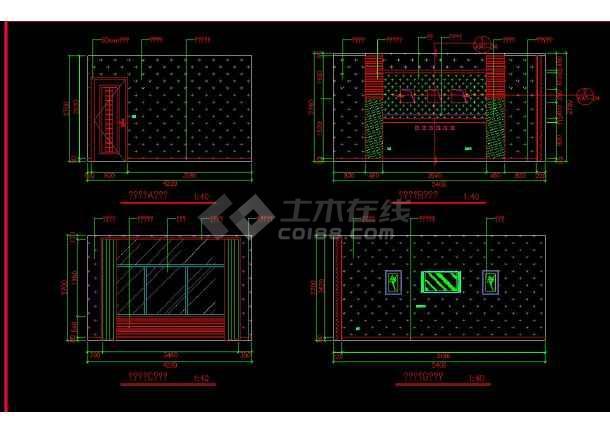 南京某地两套简单室内家装设计cad方案图-图2