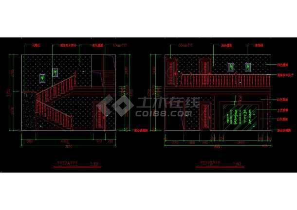 南京某地两套简单室内家装设计cad方案图-图3