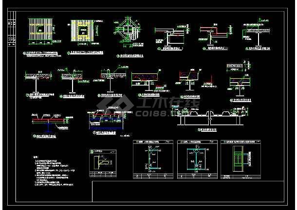 某地区过街天桥cad道路设计详细施工图纸-图1