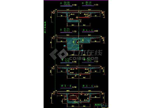 某钢结构桥梁上部cad构造详细施工设计图-图1