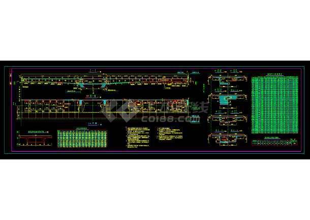 非常全的桥梁结构cad设计平面图纸-图1