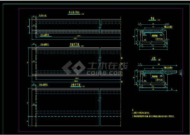 非常全的桥梁结构cad设计平面图纸-图2