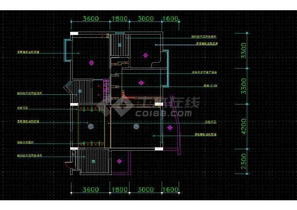 南京某地两居户型住宅室内装修cad平面施工图-图1