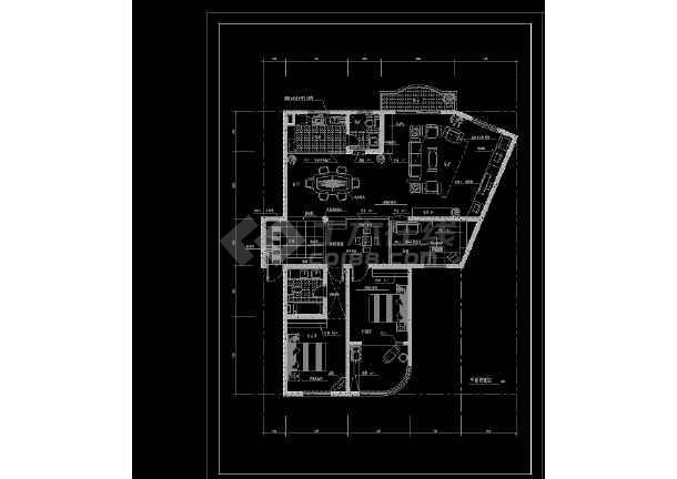 实用居住家庭室内装修设计CAD图-图1