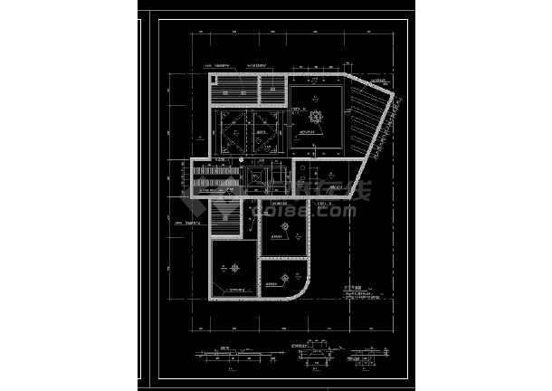 实用居住家庭室内装修设计CAD图-图2