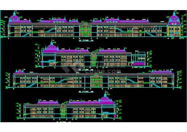 欧式穹顶商业街建筑立面v穹顶方案图万向思维平面设计图片