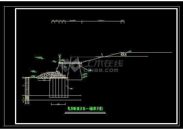 黄埔大桥堤防加固断面详细方案施工cad图纸-图1