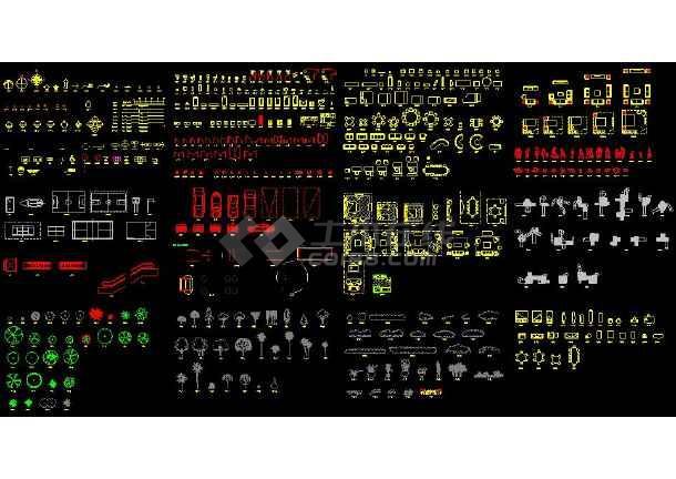 CAD安装建筑园林等综合素材图块-图3