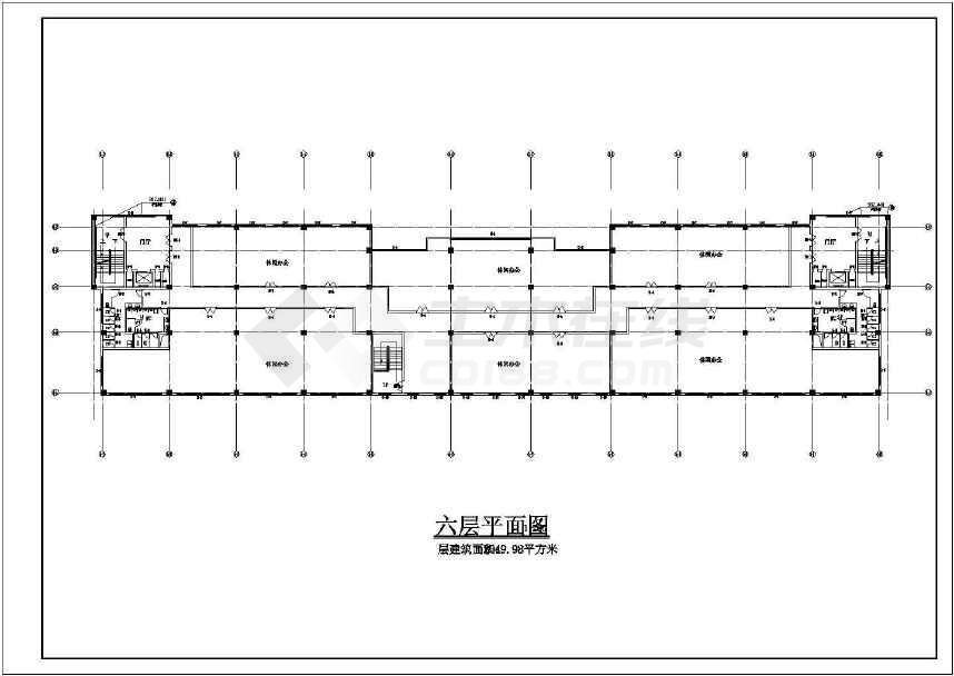 某地小型的娱乐城建筑图(共12张)-图1